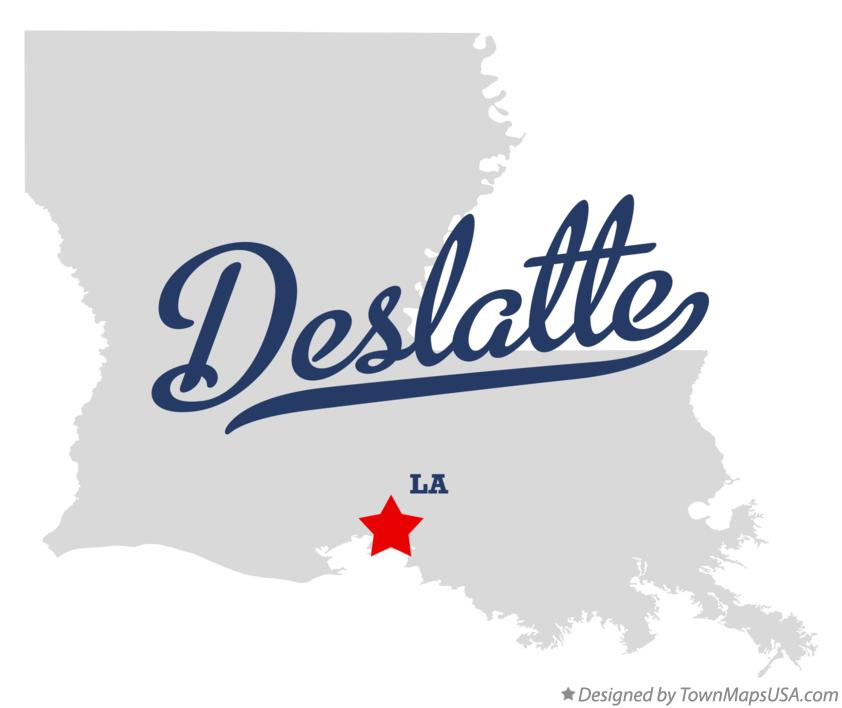 Map of Deslatte Louisiana LA