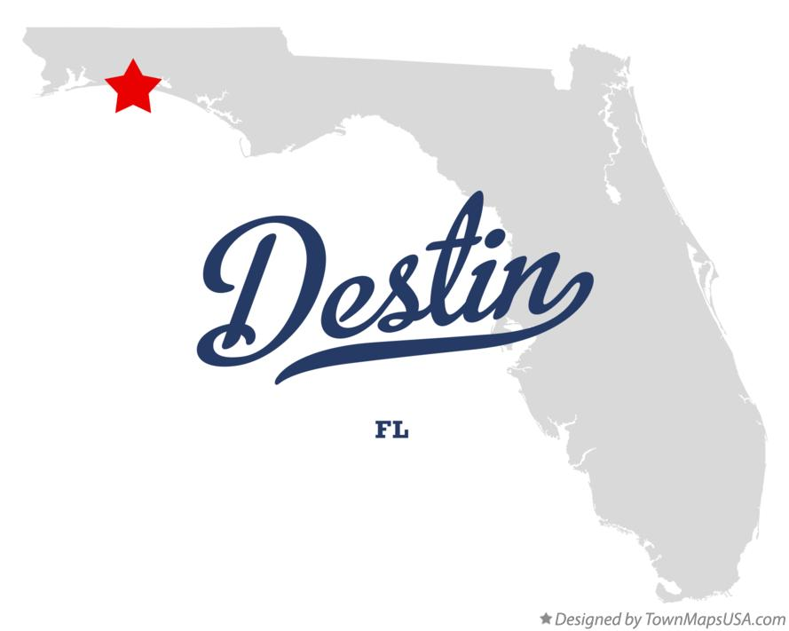 Map of Destin, FL, Florida