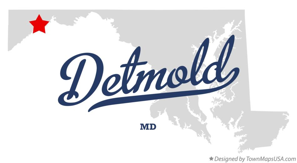 Map of Detmold Maryland MD