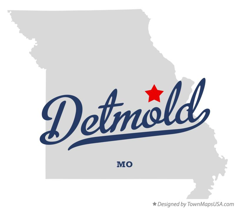 Map of Detmold Missouri MO