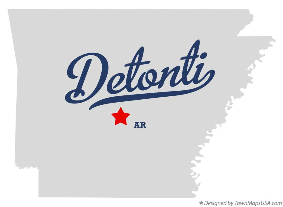 Map of Detonti Arkansas AR