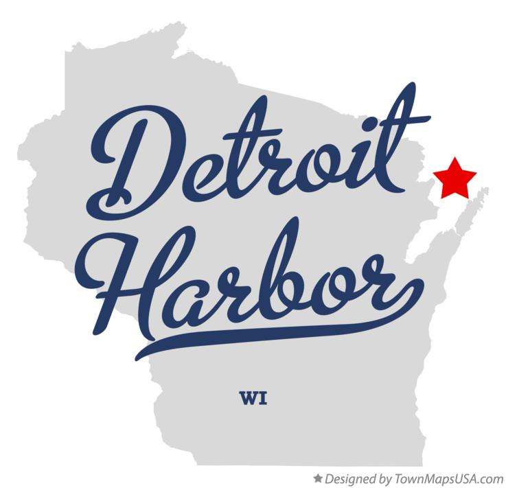 Map of Detroit Harbor Wisconsin WI