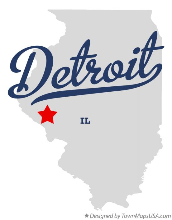 Map of Detroit Illinois IL