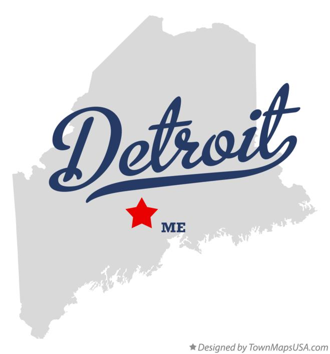 Map of Detroit Maine ME