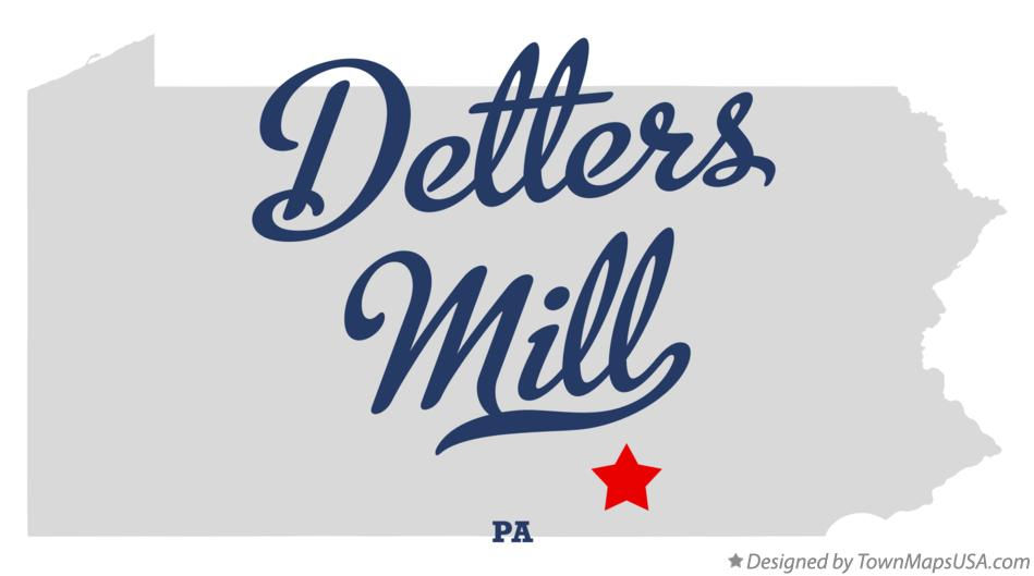 Map of Detters Mill Pennsylvania PA