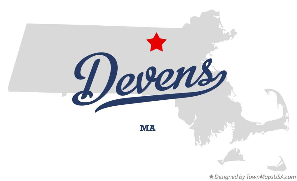 Map of Devens, MA, Machusetts Devens Ma Map on