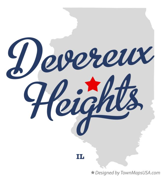 Map of Devereux Heights Illinois IL