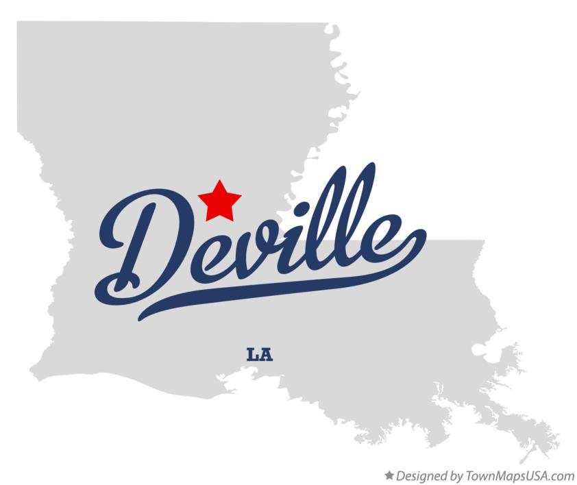 Map of Deville Louisiana LA
