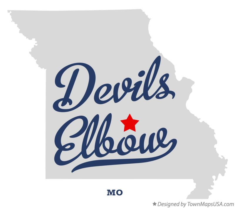 Map of Devils Elbow Missouri MO