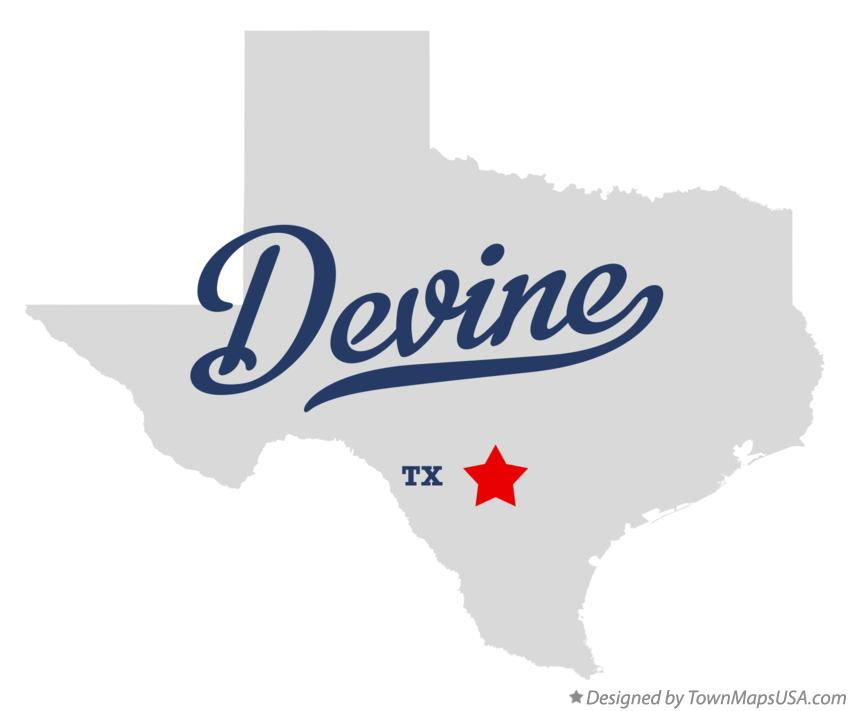 Map of Devine Texas TX