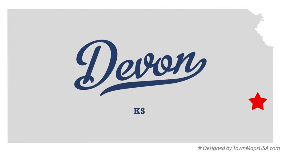 Map of Devon Kansas KS
