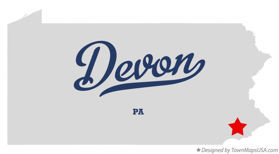 Map of Devon Pennsylvania PA