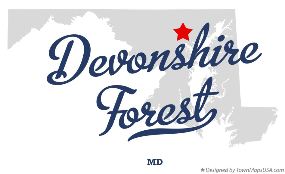 Map of Devonshire Forest Maryland MD