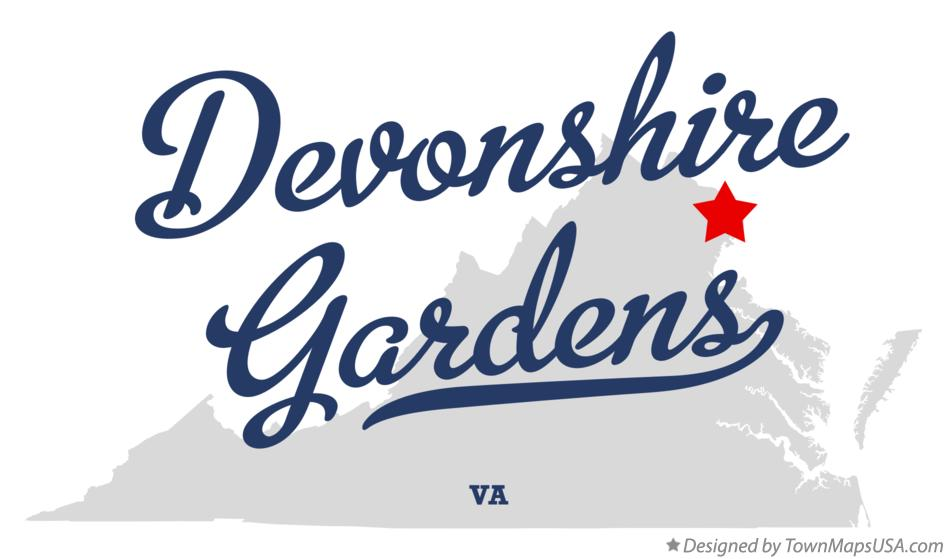 Map of Devonshire Gardens Virginia VA