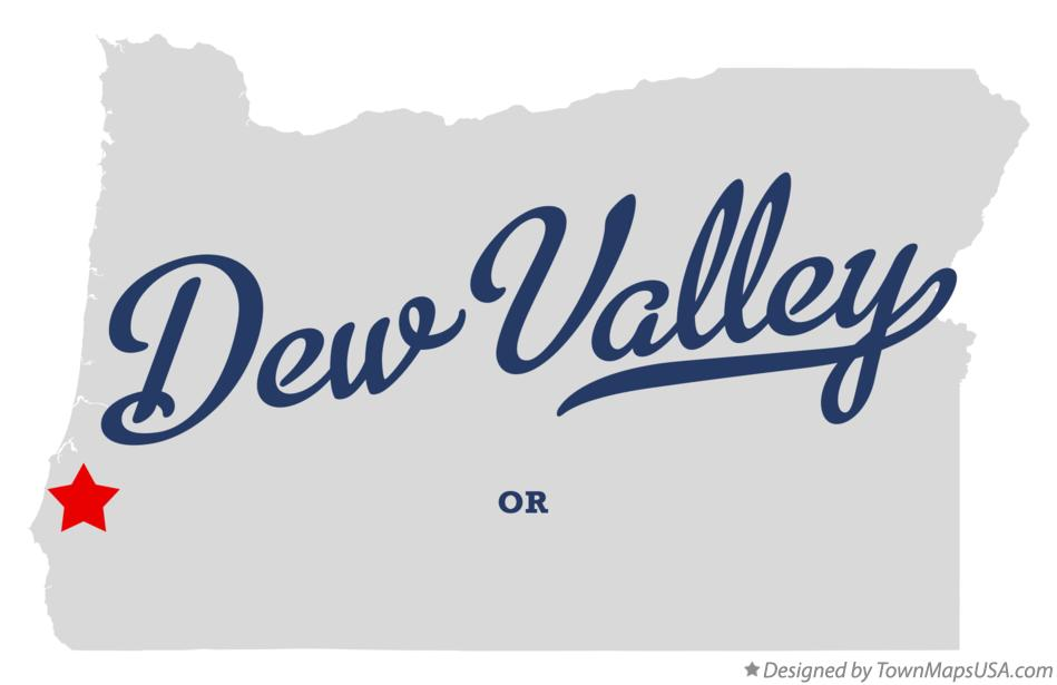 Map of Dew Valley Oregon OR
