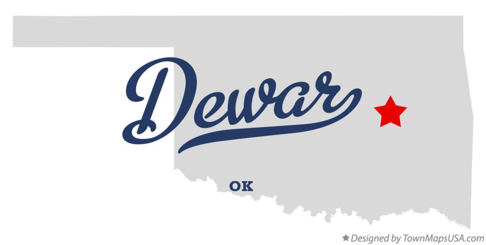 Map of Dewar Oklahoma OK
