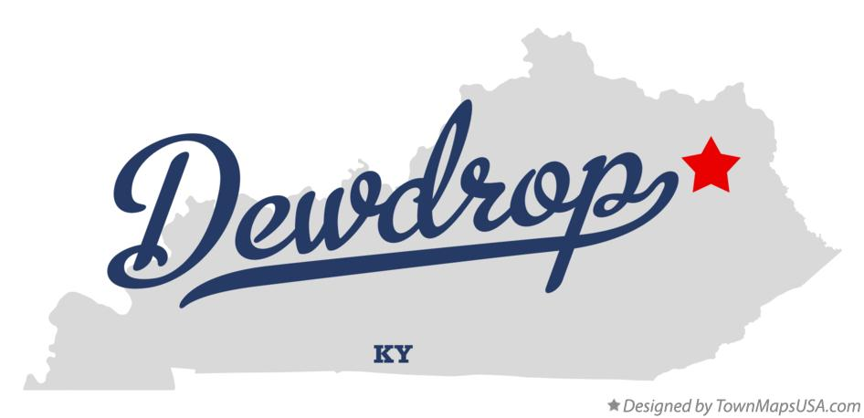 Map of Dewdrop Kentucky KY