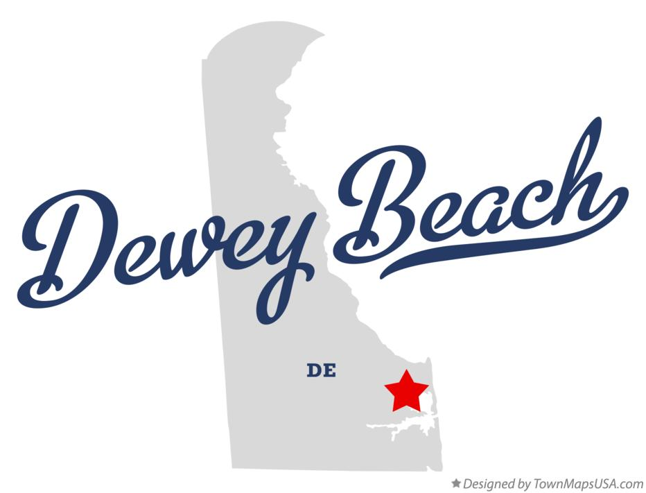 Map of Dewey Beach Delaware DE
