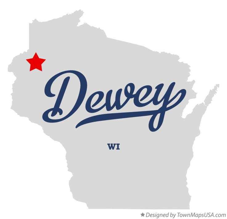 Map of Dewey Wisconsin WI