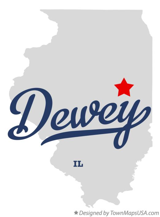 Map of Dewey Illinois IL