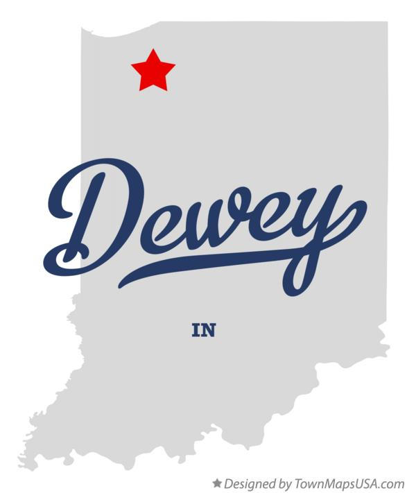 Map of Dewey Indiana IN