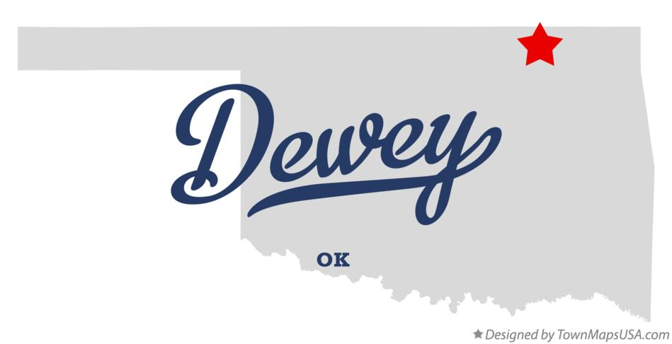 Map of Dewey Oklahoma OK