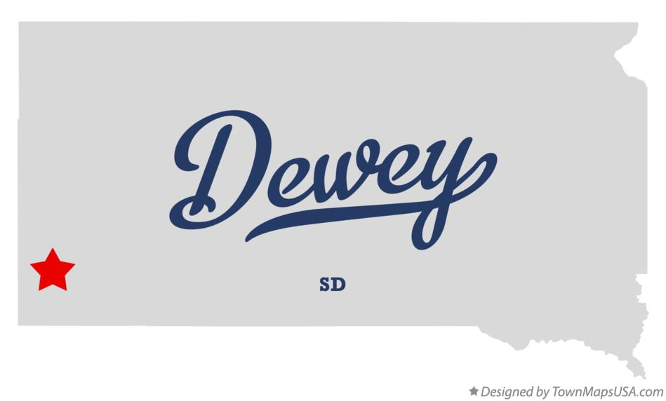 Map of Dewey South Dakota SD