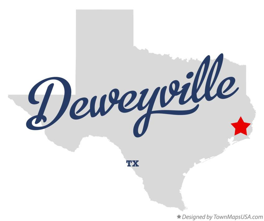 Map of Deweyville Texas TX