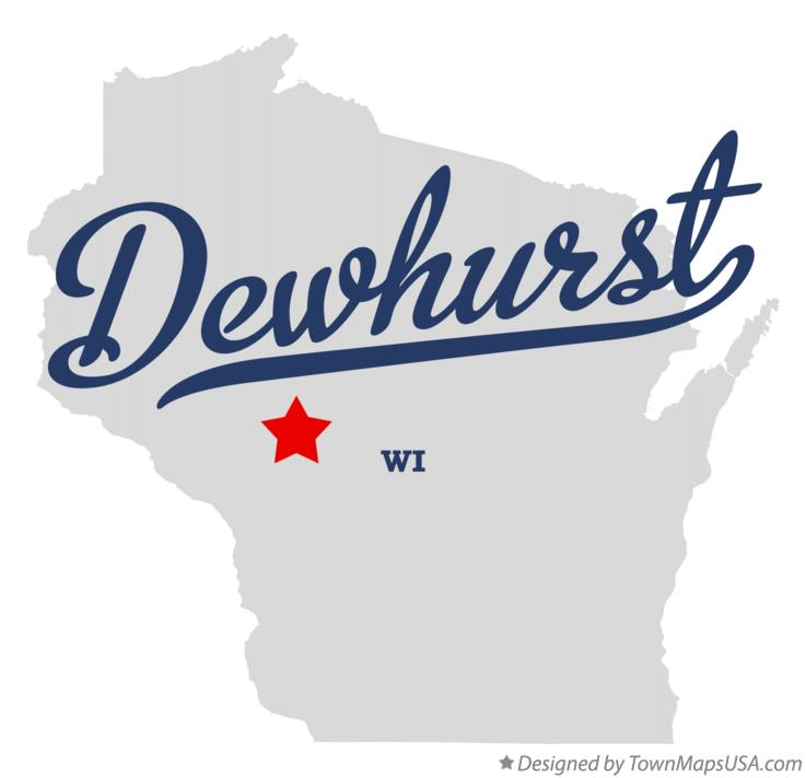 Map of Dewhurst Wisconsin WI