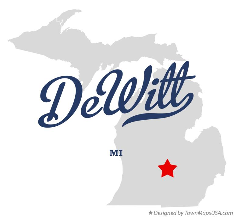 Map of DeWitt Michigan MI