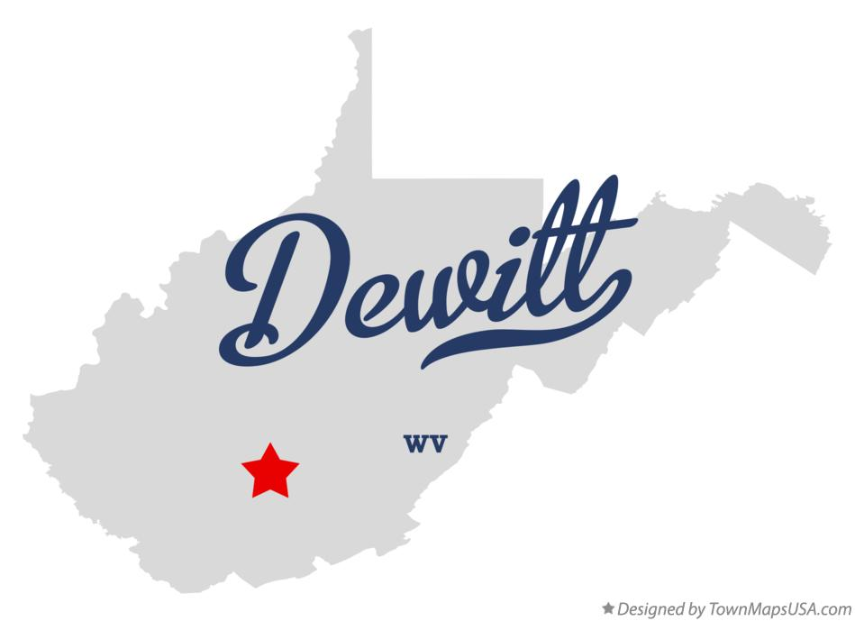 Map of Dewitt West Virginia WV