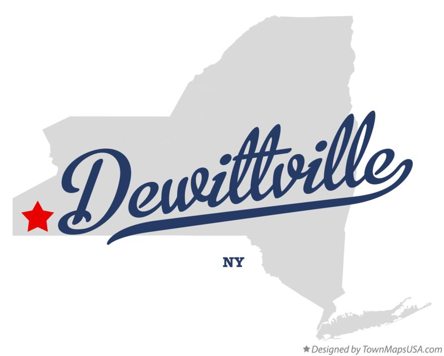 Map of Dewittville New York NY