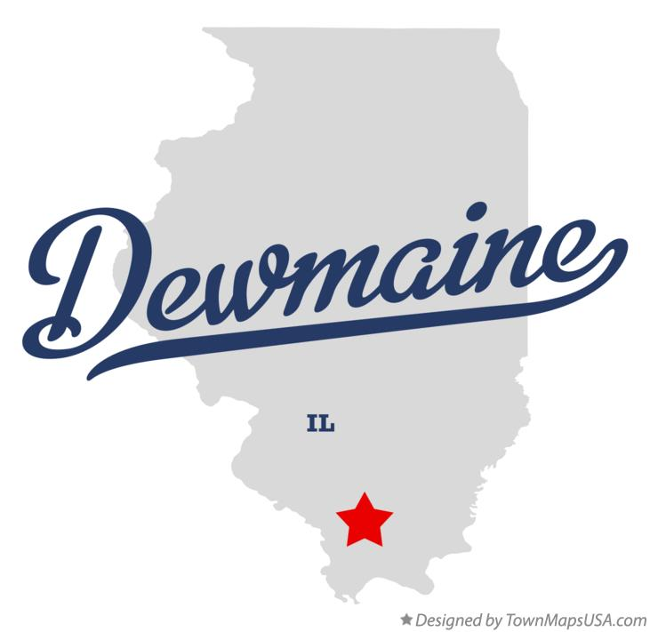 Map of Dewmaine Illinois IL
