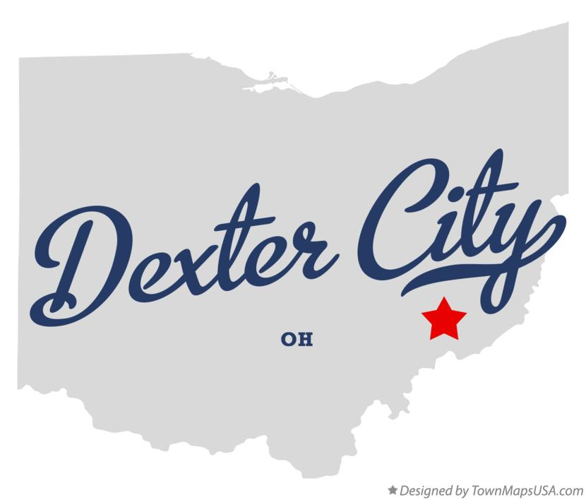 Map of Dexter City Ohio OH