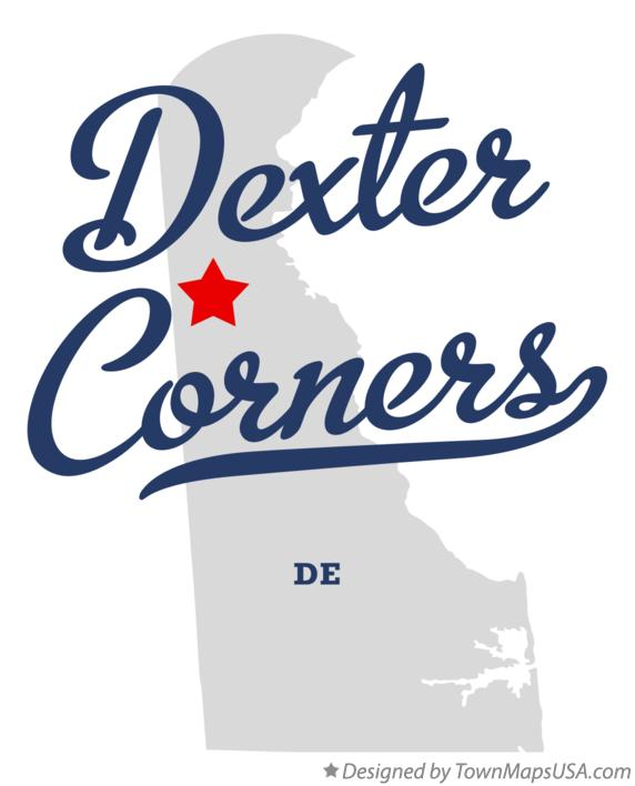 Map of Dexter Corners Delaware DE