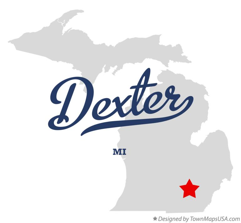 Map of Dexter Michigan MI