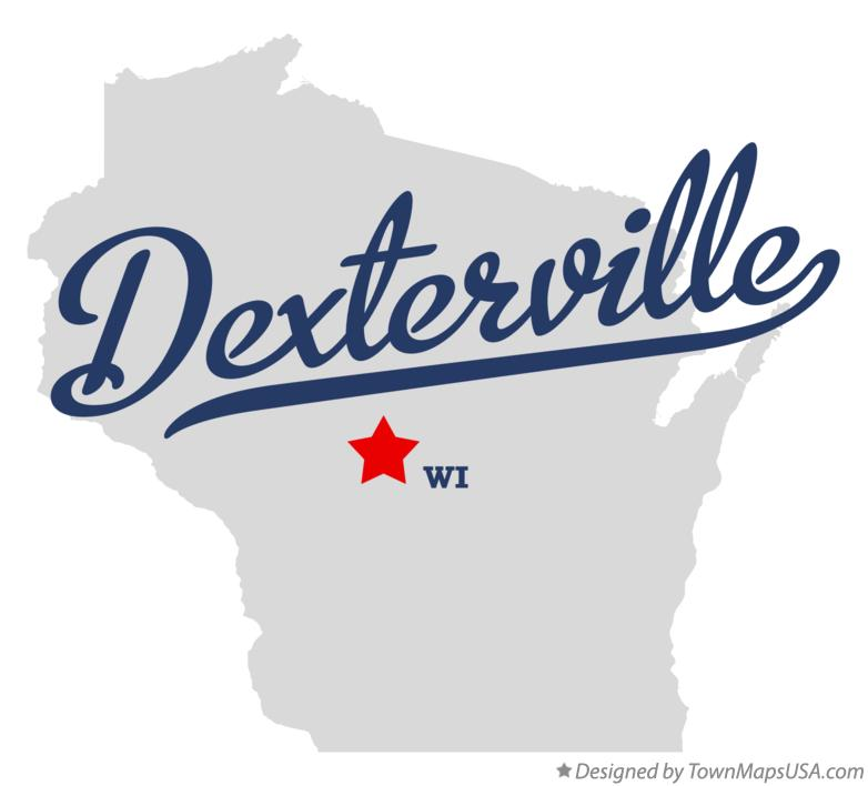 Map of Dexterville Wisconsin WI