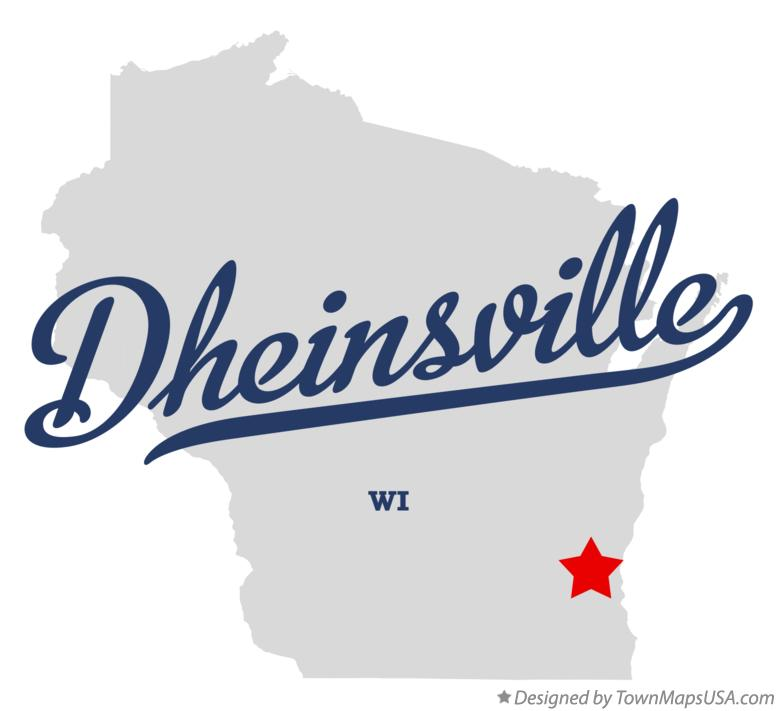 Map of Dheinsville Wisconsin WI