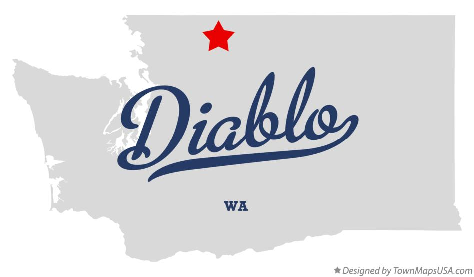 Map of Diablo Washington WA