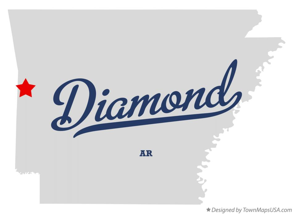 Map of Diamond Arkansas AR