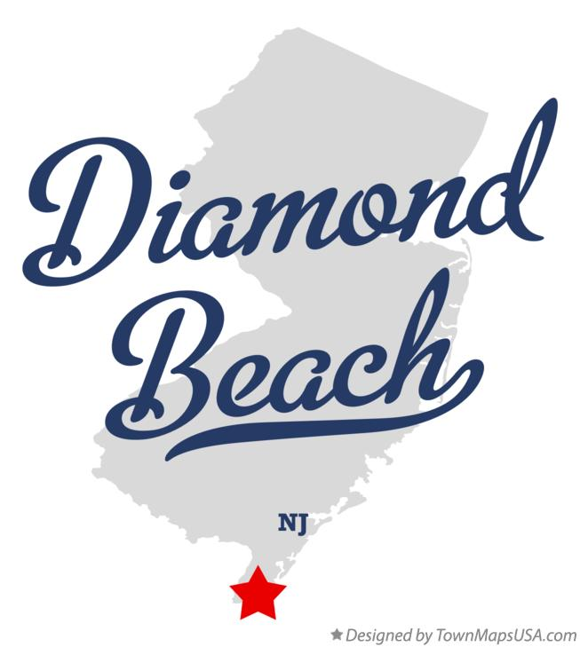 Map of Diamond Beach New Jersey NJ