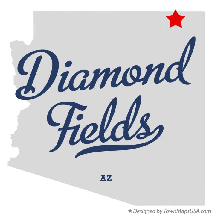 Map of Diamond Fields Arizona AZ