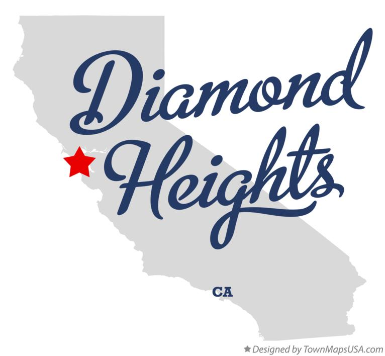 Map of Diamond Heights California CA