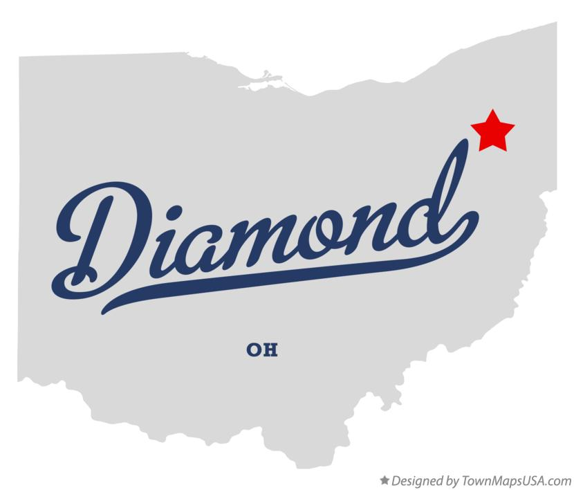 Map of Diamond Ohio OH