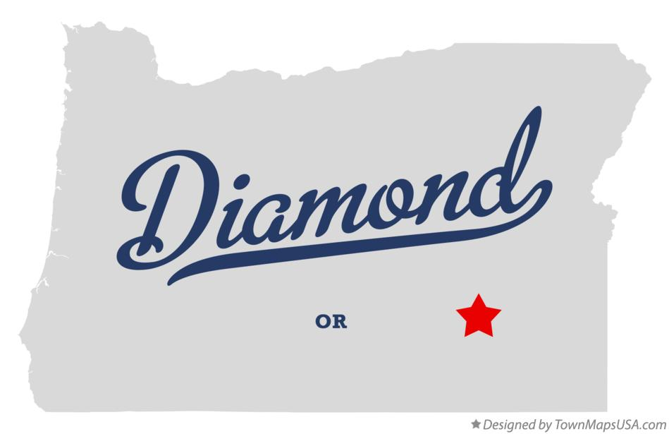 Map of Diamond Oregon OR