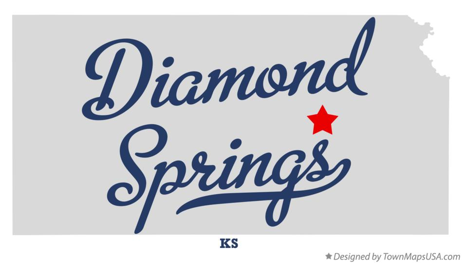 Map of Diamond Springs Kansas KS