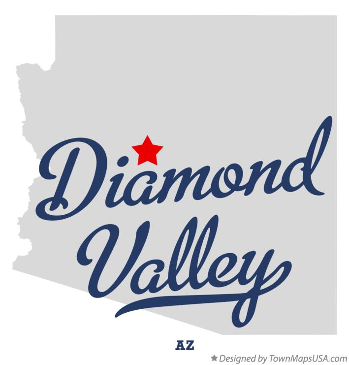 Map of Diamond Valley Arizona AZ