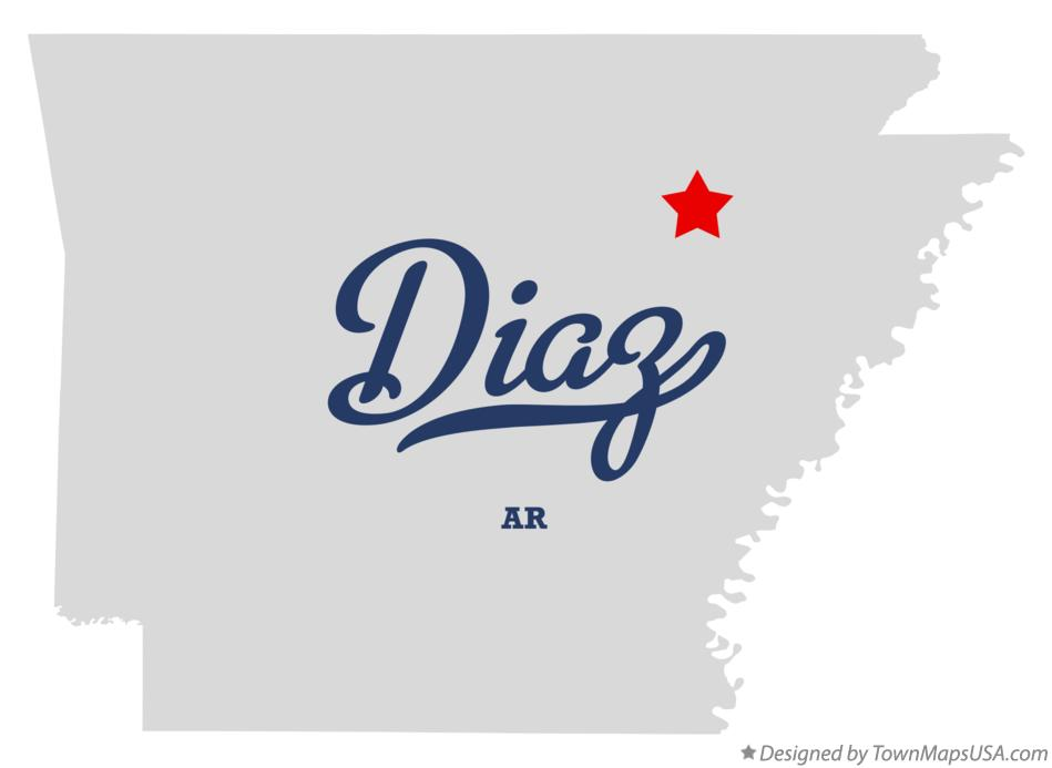 Map of Diaz Arkansas AR