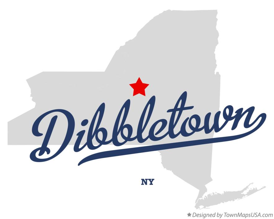 Map of Dibbletown New York NY
