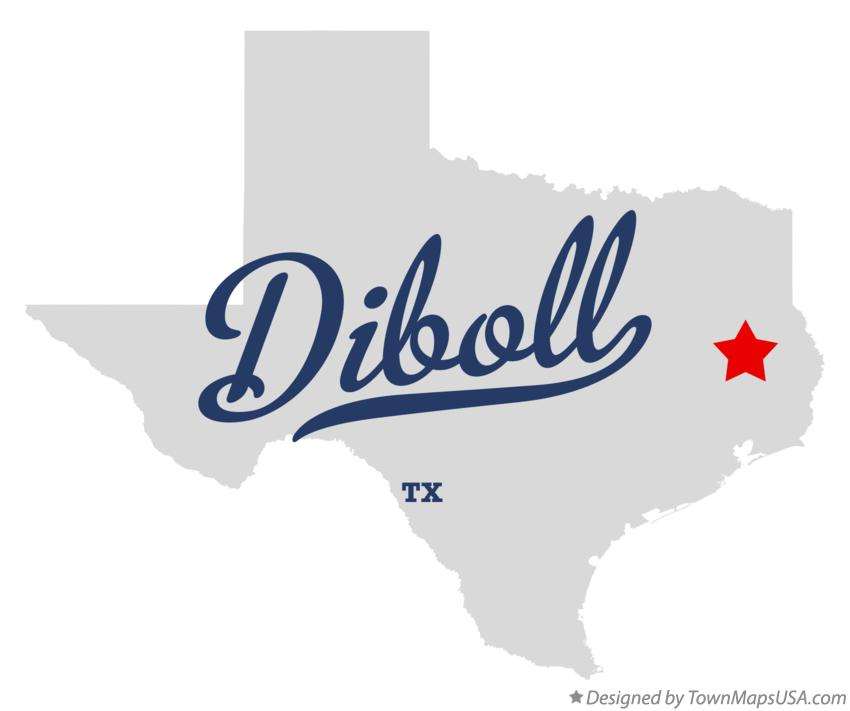 Map of Diboll Texas TX